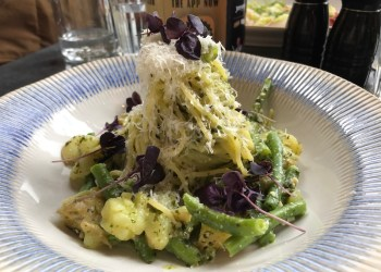 Wild Garlic Spaghetti at Jamies Italian, Birmingham