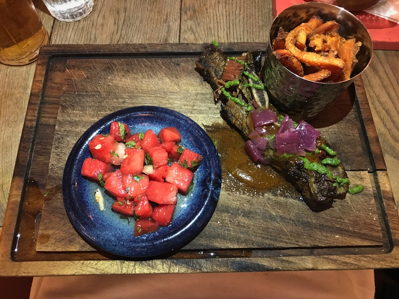 Beef ribs at Turtle Bay, Leamington Spa
