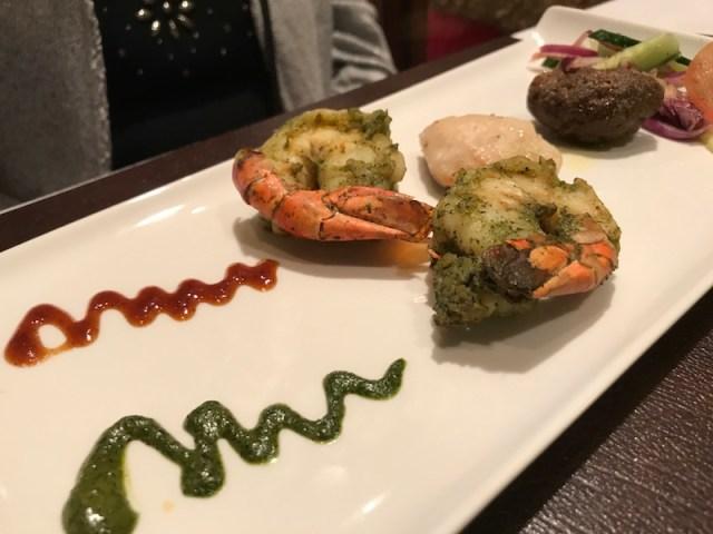 Mixed starter at Atul Kochar's Sindhu