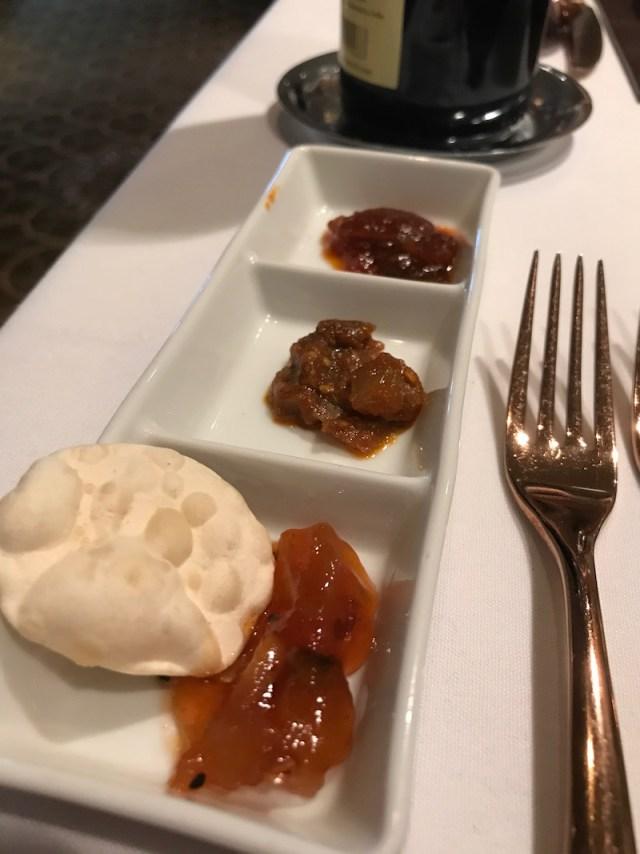 Dips & chutneys at Atul Kochar's Sindhu