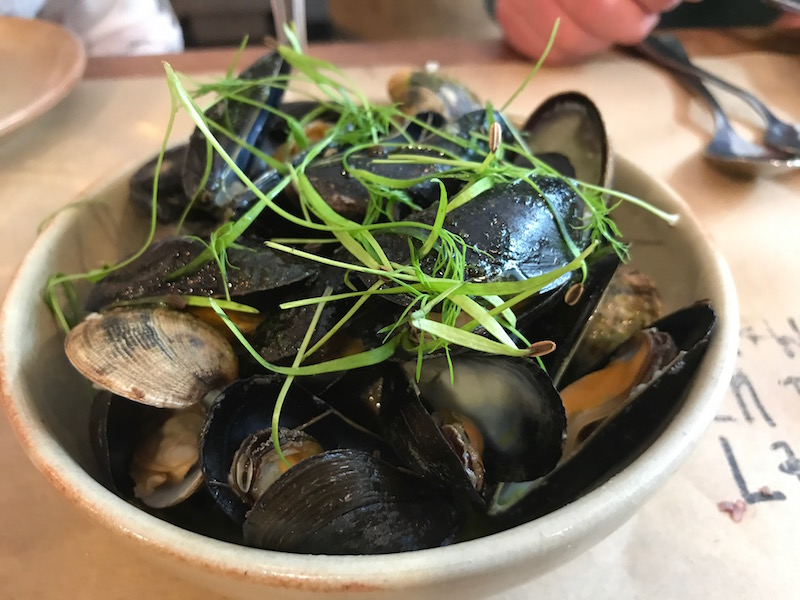 Mussels at Prawn on the Lawn, Padstow