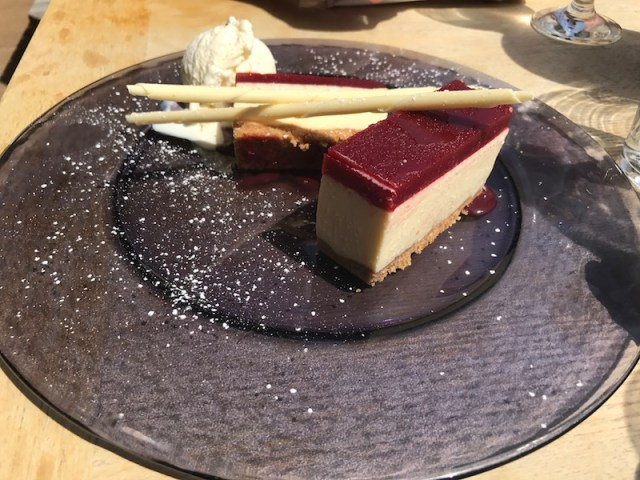 Cheesecake at The Crab Shed, Salcombe