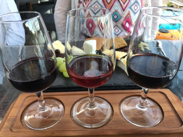 Flight of port at South Sands Hotel, Salcombe