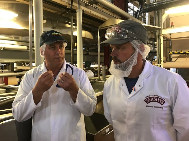 Visiting the Sarsons factory