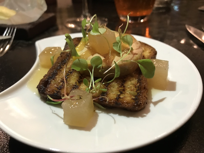 Foie Gras starter at The Balcon, London