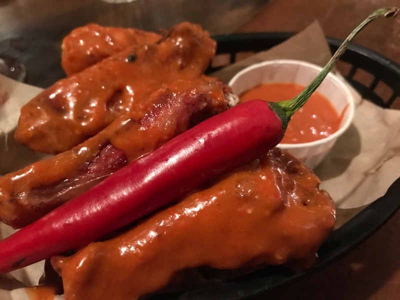 Barbecue glazed spare ribs at Hickorys Smokehouse, Coventry