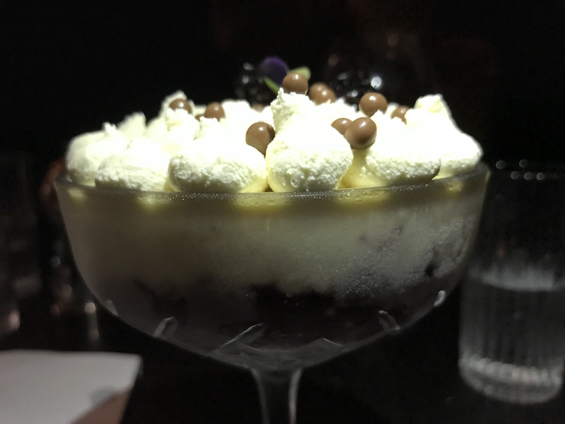 Black Iron Trifle at Black Iron, Winstanley House, Leicester