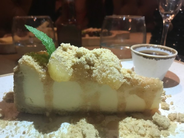 Toffee apple cheesecake at Bar and Block, Birmingham