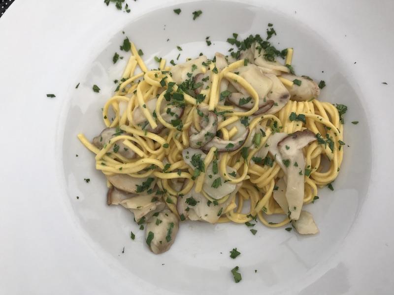 Dinner at Moniga, Lake Garda