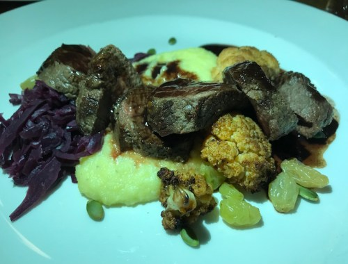 Venison at The Old Bridge Inn, Aviemore