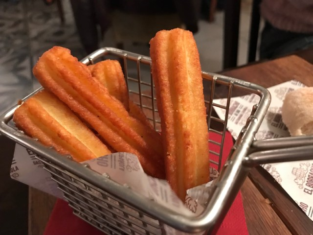 Churros at El Borracho de Oro, Birmingham