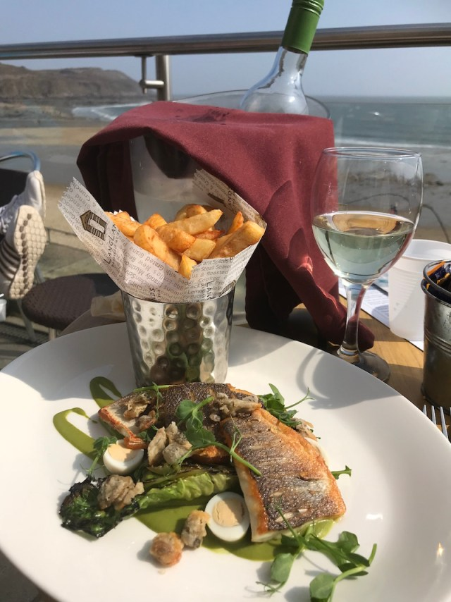 Sea bass at Langland's brasserie