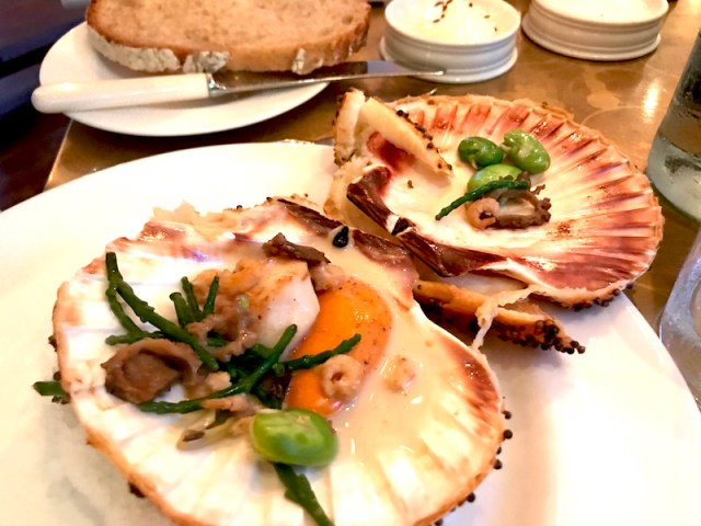 Baked oysters at Farmer, Butcher, Chef