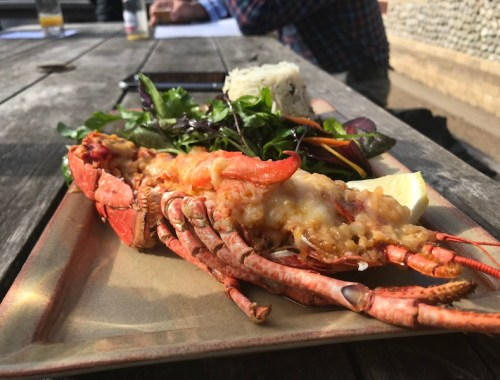 Lobster Thermidor at The Victoria Inn, Holkham