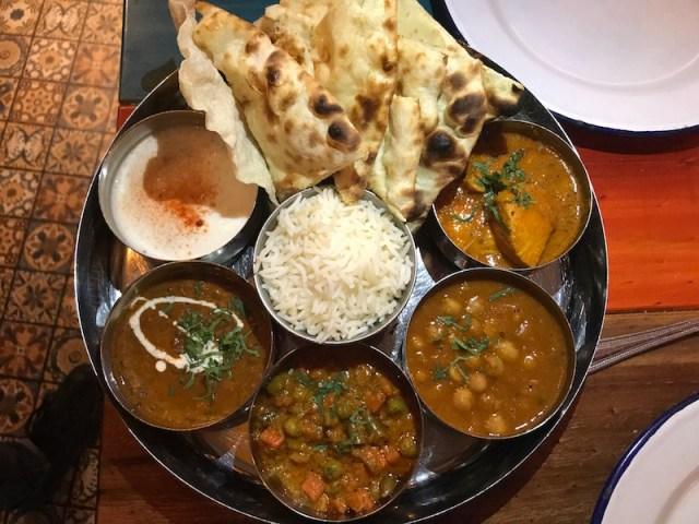 Thali at Indico Street Kitchen