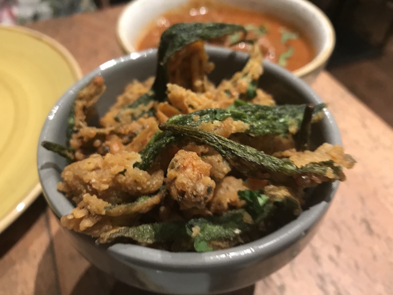 Okra fries at Tap & Tandoor