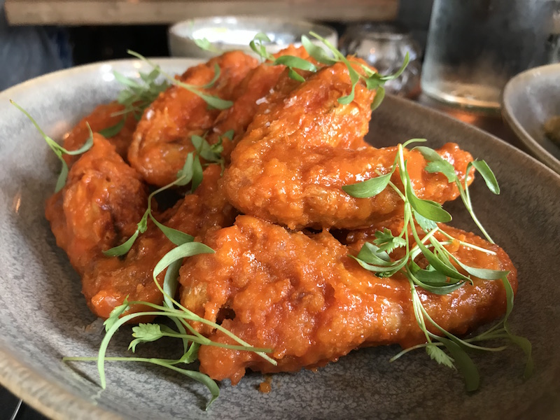 Chicken wings at Butcher's Social, Henley