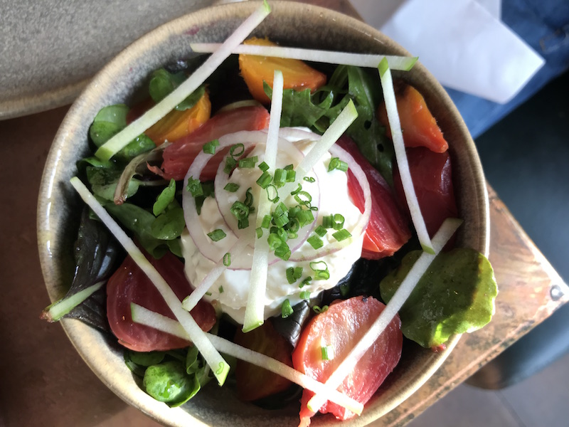 Burrata salad at Butcher's Social, Henley
