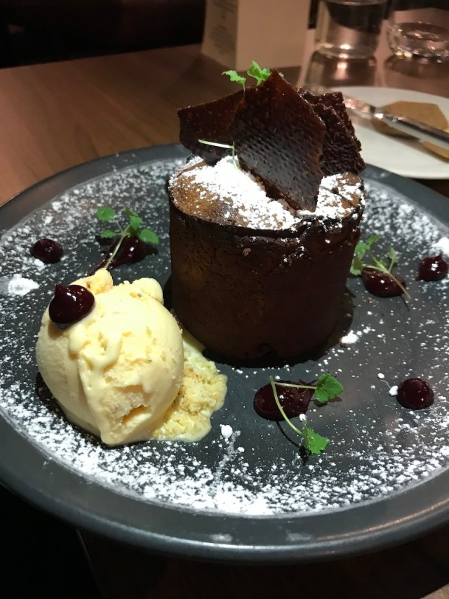 Chocolate fondant at Loxleys