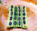 Ants On A Log ( Healthy Snack ) Recipe