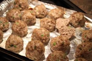 Saucy Asian Meatballs - pre-sauce