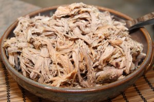 A Pile of Pulled Pork - Ready for any Seasoning or Sauce