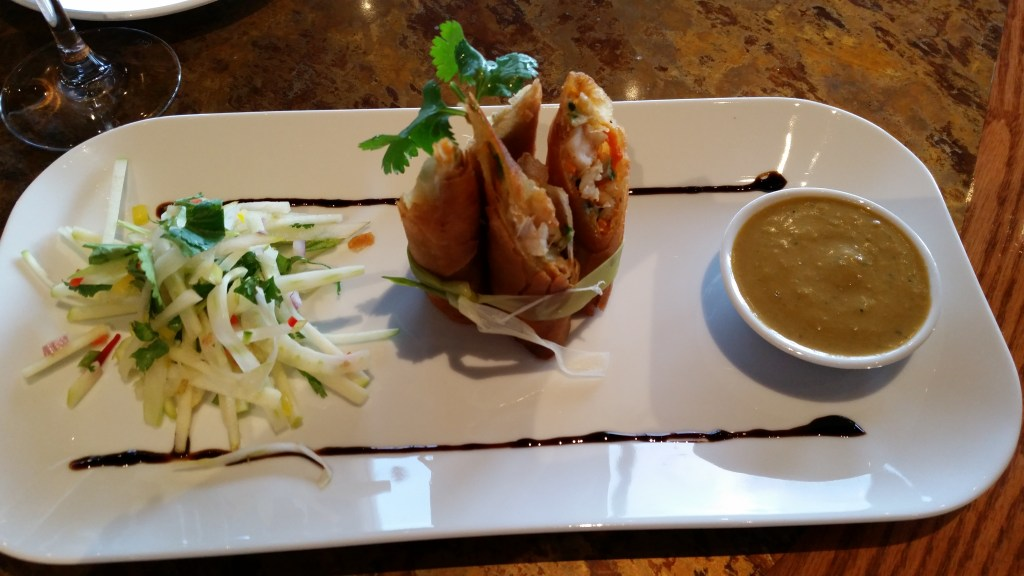 Chilli Prawn Springrolls at the Salmon House on the Hill