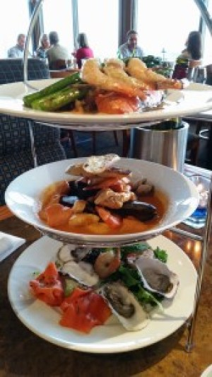 Seafood Tower at The Salmon House on the Hill