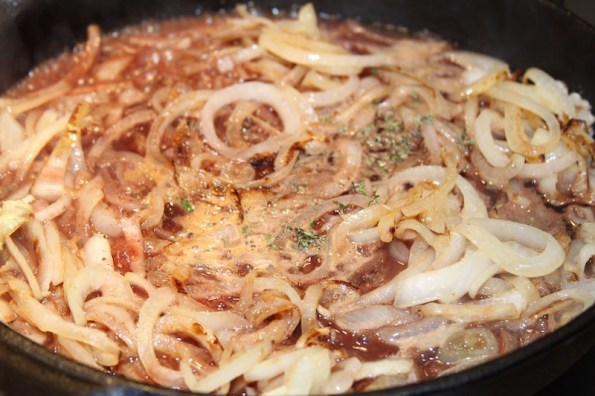 French onions & sauce