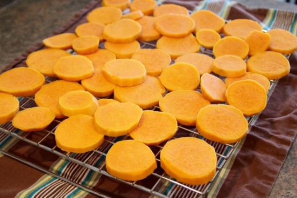 Cooling the sweet potatoes