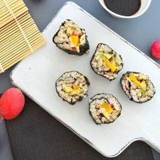 Avocado, Mango & Radish Brown Rice Sushi