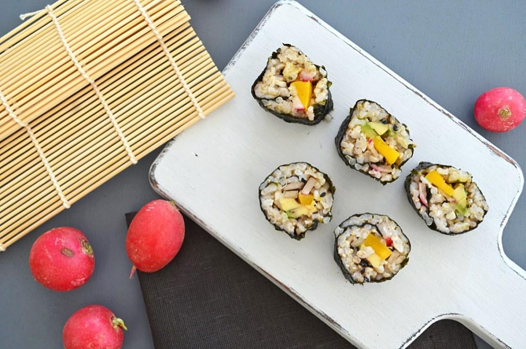 Avocado, Mango & Radish Sushi
