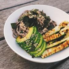 Sesame Soba Salad & Grilled Zucchini