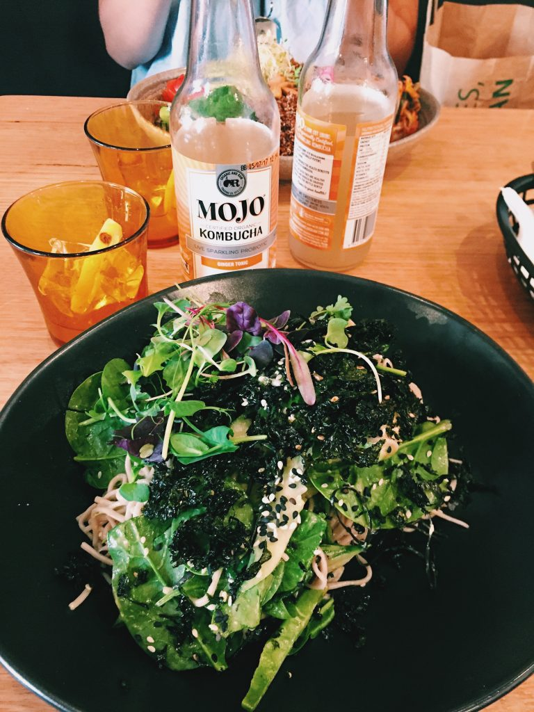 Soba Salad (at Vegie Bar) | eat, write + explore