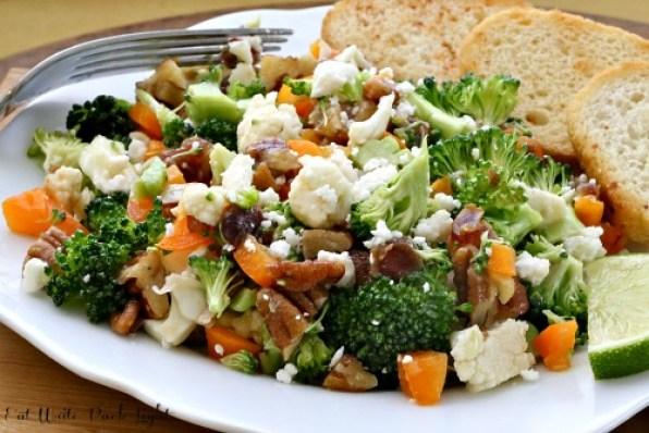 Cauliflower Broccoli Salad