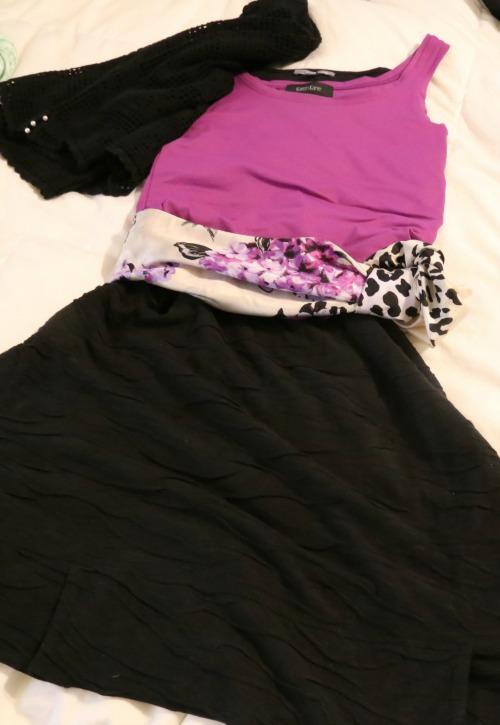 black dress used as skirt