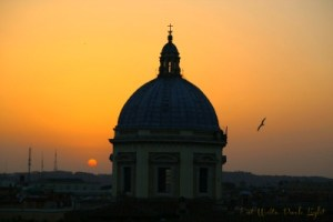 Rome hotel sunset