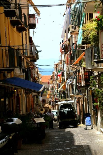 Sicily walk through streets