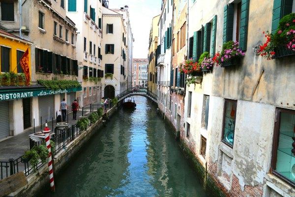 Venice empty canals