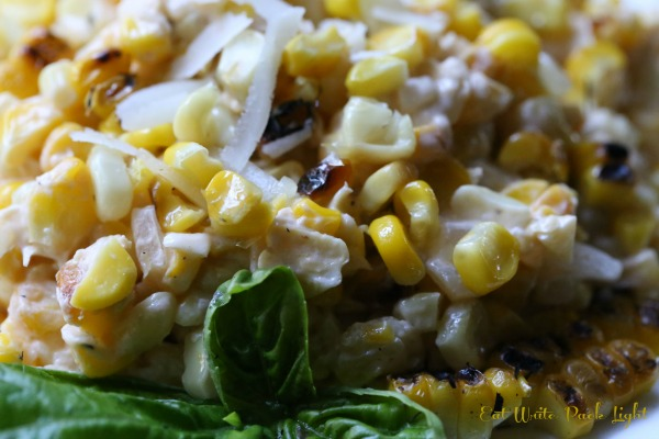 Grilled Corn in Creamy Sriracha close