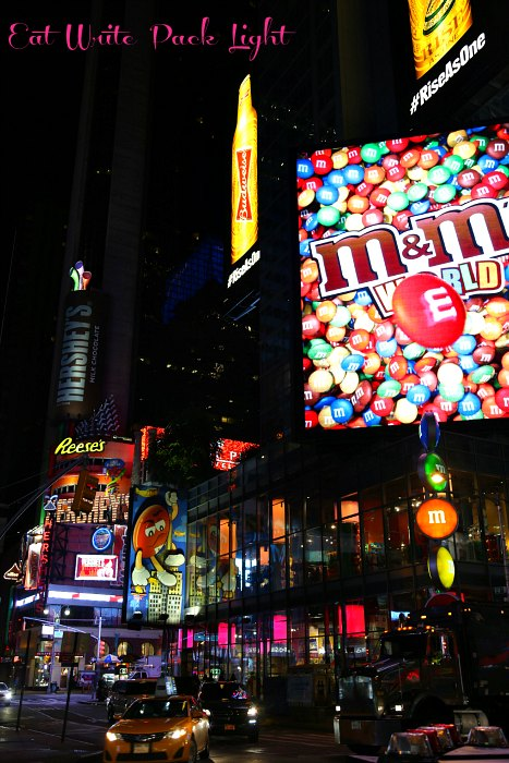 New York TImes Square bright lights candy