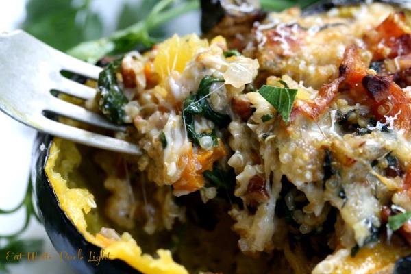 quinoa stuffed acorn squash fork 2