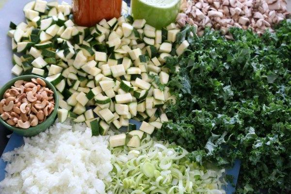 Immmunity Soup Vegetables chopped