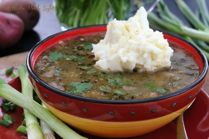 Green Gumbo with Potato Salad | Eat Write Pack Light