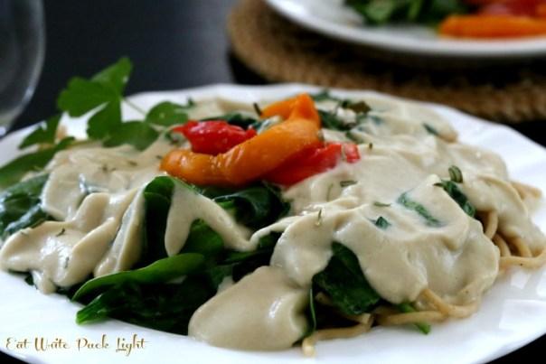 Creamy White Sauce plate
