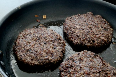 Black Bean Burger pan