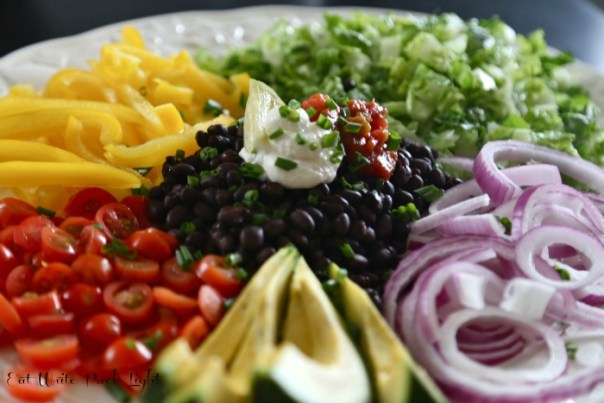 Black Bean Southwest Salad Bowl Ingredients