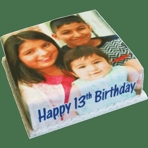 family birthday canvas cake