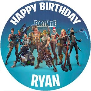 Fortnite Circle Cake Topper