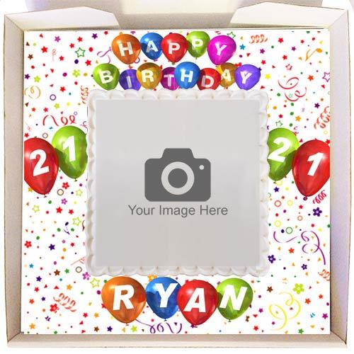 birthday balloons gift cake